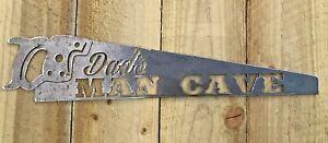 Dads Man Cave Metal Sign Wall Art CNC Sign Man Shed Decor Metal Plague Saw Sign