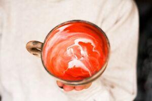 Rainbow cup coffee mug Pottery mug Ceramic mug Tea cup Colorful gift Father day