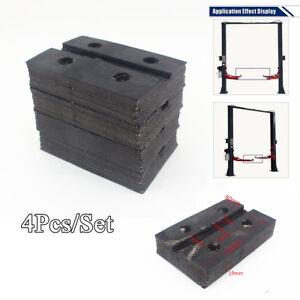 4Pcs Universal Square Ox Tendon Rubber Arm Pads Rubber for Car Auto Truck Hoist