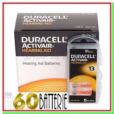 60 DURACELL 13 PR48 Batterie ACTIVAIR Protesi Pile per Apparecchi Acustici
