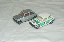 MATCHBOX lot de Renault 5 KONI Rallye le car et une grise 1978 Lesney
