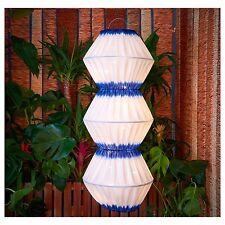 IKEA SOLVINDEN LED SOLAR-POWERED PENDANT LAMP, BLUE/WHITE HANGING PATIO DECOR