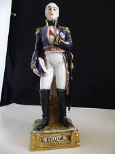 STATUETTE PORCELAINE PARIS MARECHAL EMPIRE BRUNE SIGNEE BOURDOIS ET BLOCH 1850