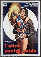 L'ALTRO PUNTO CALDO MANIFESTO CINEMA SEXY EROTICO GERMANIA 1974 MOVIE POSTER 4F