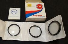 NOS ROLEV M.G. 52mm Close Up Filter Set +1, +2, and +4 Filters