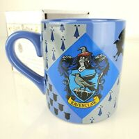 Harry Potter Ravenclaw Blue Coffee Mug 14 oz Hogwarts Crest New in Gift Box
