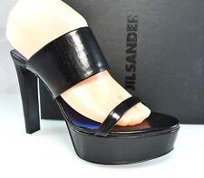 $495 JIL SANDER Two Straps Platform Sandals Slip On Designer Womens Shoes 38 8