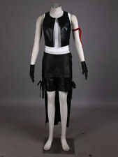 Final Fantasy VII 7 Tifa Lockhart Holloween Suits Black Leather Cosplay Costume