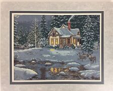 """Hideaway 06006 Elsa Williams Finished Needlepoint Picture 18x22"""" Forest Winter"""