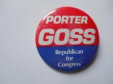 Florida U.S. House Congress Pin Back Campaign Button Porter Goss Local Badge