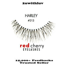 5 X Red Cherry 100 Human Hair Black False Eye Lashes #213