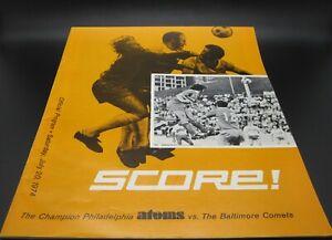 1974 NASL North American Soccer Philadelphia Atoms Vs. Baltimore Comets Program