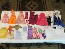 BARBIE DOLL FASHION CLOTHES LOT~LONG EVENING DRESSES~SHORT DRESSES~SHOES~CAPE