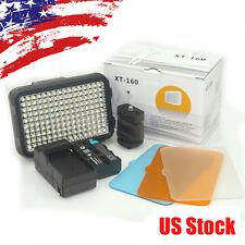 Pro XT-160 Camcorder Camera LED Video Light Studio Lighting Lamp+Battery+Charger