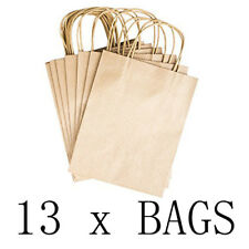"13 Paper Gift Bags Handles 8"" x 10.25"" x 4.25"" Arts Birthdays Shopping Presents"