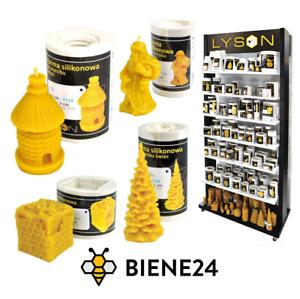 Silikonformen Kerzenformen Kerze Gestalten Basteln Deko Bienenwachs Wachs Docht