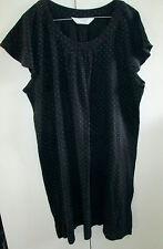 Ladies Givoni Top Dress Size XL Black White Dots Cap Sleeve Cotton