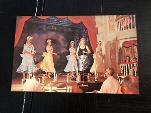 Vintage DISNEYLAND Postcard--Frontierland--Finale Golden Horseshoe Pepsi Stage
