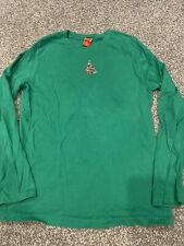 Target Women's Christmas Tree Green Long Sleeve T Shirt w/ Raised Bling Size XL