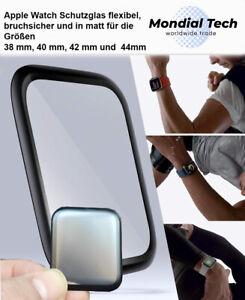 Für Apple Watch Matt Keramik Display Panzer Schutzglas Folie AntiFinger Flexibel