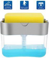 Soap Pump Dispenser Sponge Holder for Kitchen Sink Dish Washing Soap Dispenser