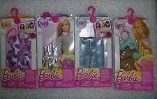 "4 Barbie Packs "" New "" By Mattel 4 Dresses MIP Clothes, Shoes & More"