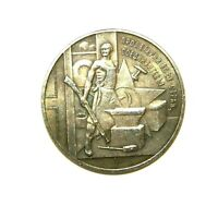 1 RUBLE 1920***LENIN***SOVIET RUSSIA***EXONUMIA SILVERED COIN - TOKEN