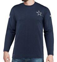 New Dallas Cowboys Nike NFL Football Dri-Fit Coaches On Field Shirt Long Sleeve