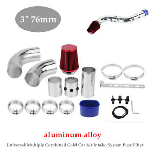 """3"""" 76mm Car Bumper Cold Air Intake Pipe Filter Injection System Funnel Bracket"""