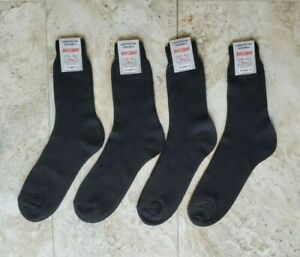 NWT Socks 100%Cotton ONLY Black Dress Casual Crew 4 Pairs Size 11-12 from Europe