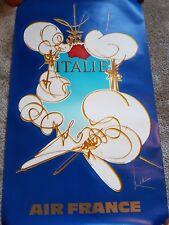 Original Air France astratto poster di viaggio per l'Italia da Georges Mathieu