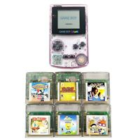 Nintendo Game Boy Color Handheld System Atomic Purple w/ 6 Games Tested New Lens
