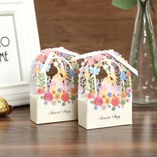 50cs Hollow Love Flower Favor Ribbon Gift Box  Candy Boxes Wedding Party