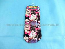US SELLER- 3D cheap dress socks for women cats girl women crazy socks low cut