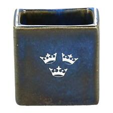 Ein kleines Gustavsberg Vase blau & Silber Schwedisch 3 Krone Design
