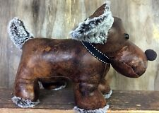 Luxury Weighed Brown Faux Leather Dog Doorstop 2040
