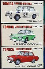 Tomy Tomica Vintage Toys Club  Hino contessa ,Isuzu Vered ,Toyota Publica 1 : 64
