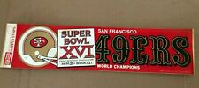 San Francisco 49ers Bumper Sticker-Super Bowl Champions XV1 1982 Bengals