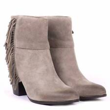 $278 ASH SUEDE FRINGE QUICK STONE ANKLE BOOTIES WESTERN DISTRESSED BOOTS 39M 8