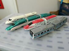 TOMY TAKARA MOTORIZED BULLET TRAIN Lot ENGINES CONNECT CARS,BUS,TRANSFORMERS