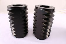 Black Anodized Plated Retro Fork Boot Slider Covers for Harley 86-13 FLH/T