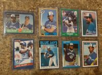 (8) Cecil Fielder 1986 Fleer Donruss Topps Rookie + 1987 card lot RC Jays Tigers