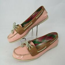 Sperry Top Sider Size 8.5 M Patent Leather Boat Shoes Audrey Light Rose Pink