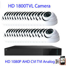 32Ch All-in-1Hdmi 1080P 1800Tvl Ir Cut 3.6mm Lens Security Camera System Dome 32