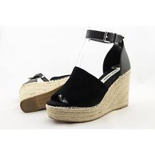Steve Madden Jaylen Women US 7.5 Black Wedge Sandal Pre Owned  1341