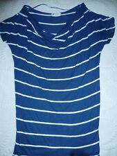 TUNIQUE H&M xs 12 14 ans TBE MARIN MARINIERE TEE SHIRT Tshirt