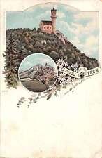 Kirchheim unter Teck Germany Teck Castle Gruss von Antique Postcard J41307