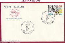ITALIA FDC CAVALLINO CINEMA VITTORIO DE SICA LADRI DI BICICLETTE 1988 ROMA Z390