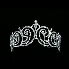 Handmade Bridal Pageant Rhinestone Crystal Prom Wedding Crown Tiara 7213