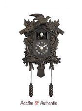 Acctim Hamburg Cuckoo Pendulum Bronze Wood Effect Antique Wall Clock New